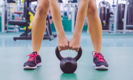 The Two-arm Kettlebell Row
