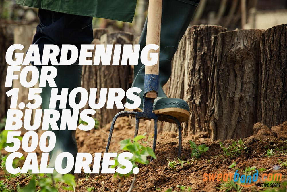 Did you know that doing the gardening for 1.5 hours can burn up to 500 calories! Who knew you could get such a good workout in your garden?!