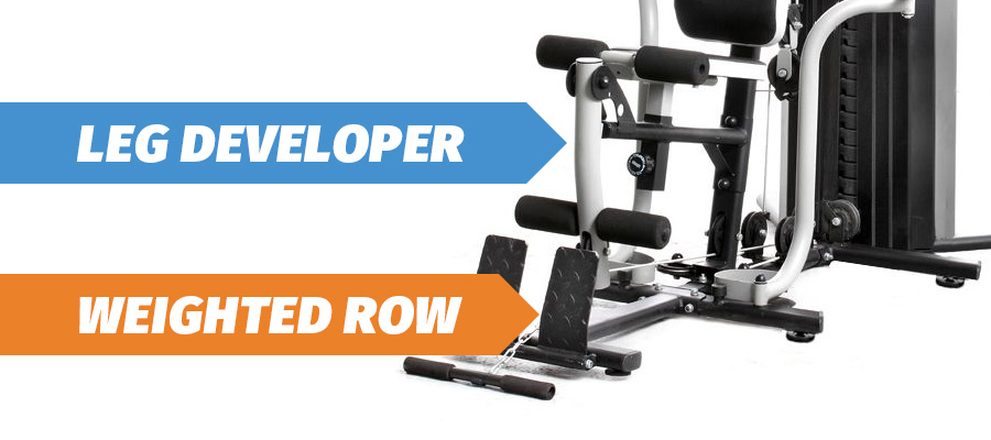 multi gym leg developer and weighted row