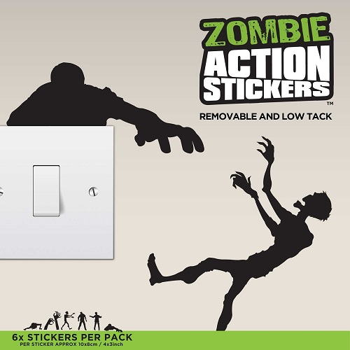mustard zombie action stickers