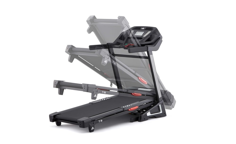 Folding the adidas T-16 treadmill