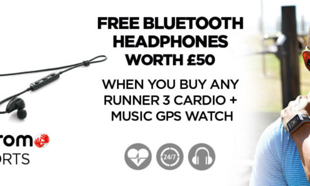 Free Bluetooth Headphones With TomTom Runner 3 Cardio Watches