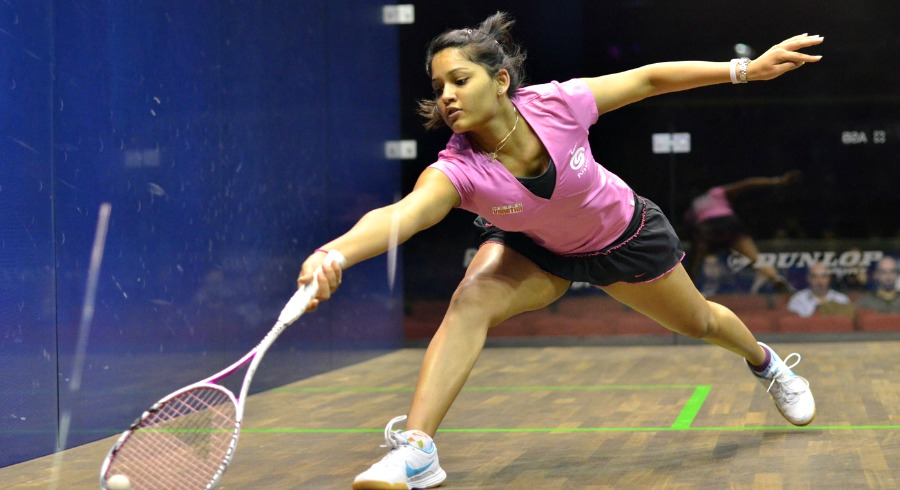 Dipika Pallikal on squash court