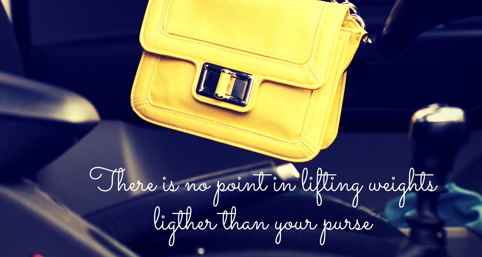 There is no point to lifting weights lighter than your purse.