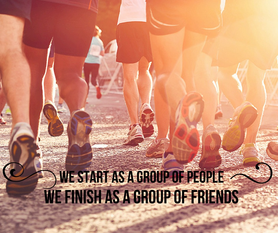 We start as a group of people