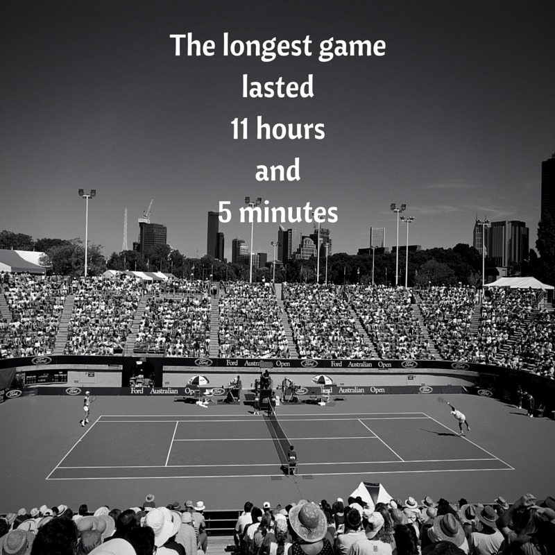 The longest tennis match lasted for over 11 hours