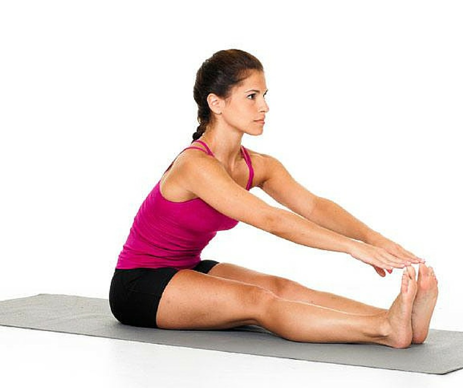 Seated pike stretch