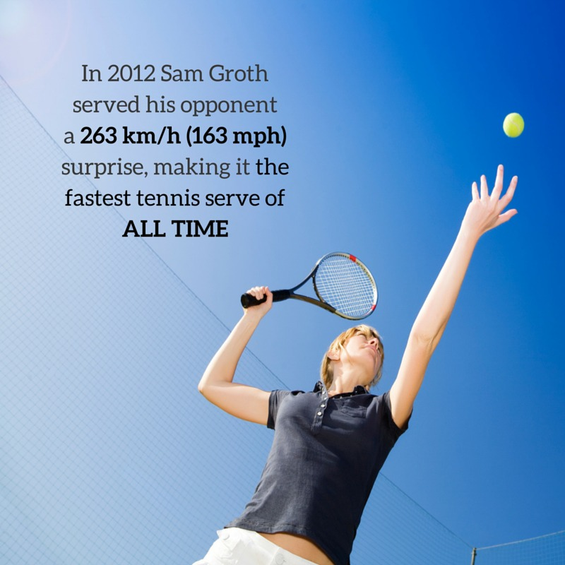 Sam Groth holds the record for the fastest tennis serve in history