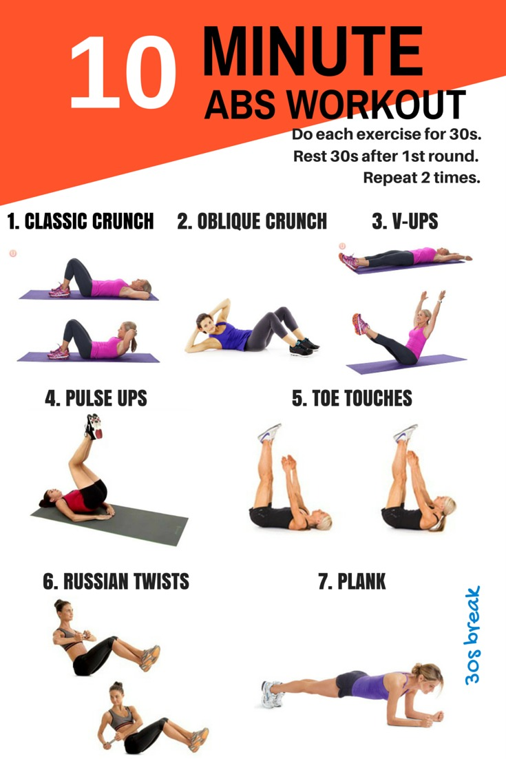 10 minutes - abs