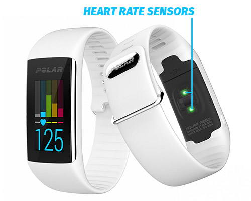 Polar A360 heart rate sensors