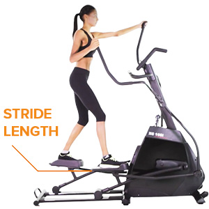 elliptical cross trainer stride length