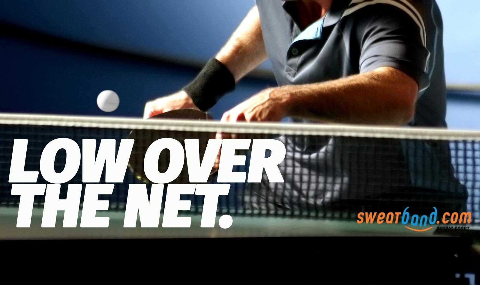 Aim low over the net and cut off the angles for your table tennis opponent