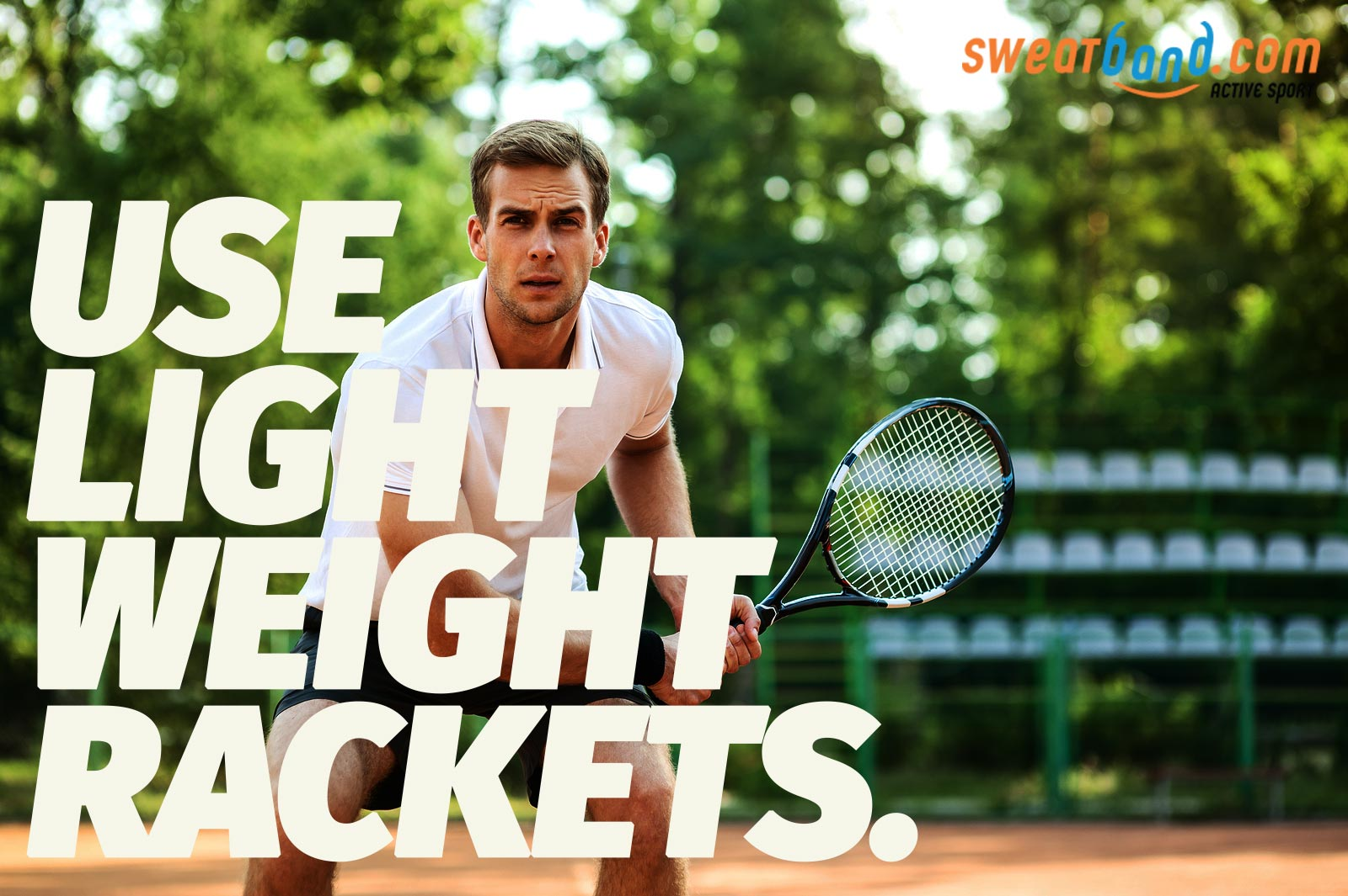 Try a more arm-friendly racket if you suffer from tennis elbow