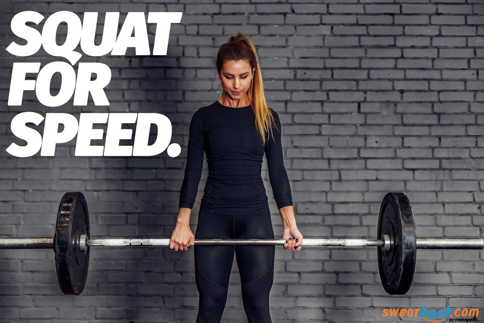 Add squats to your running training to build up muscles and increase speed