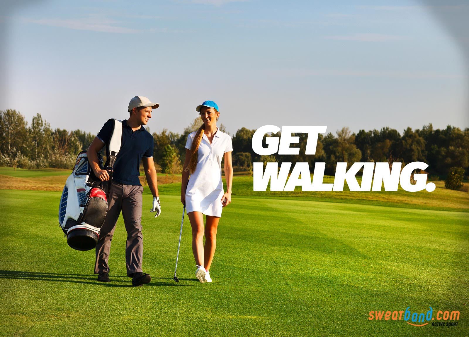 Play a round of golf and you'll be doing well over your 10,000 steps for the day!