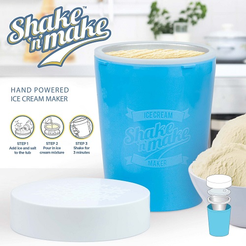 mustard shake and make hand powered ice cream maker
