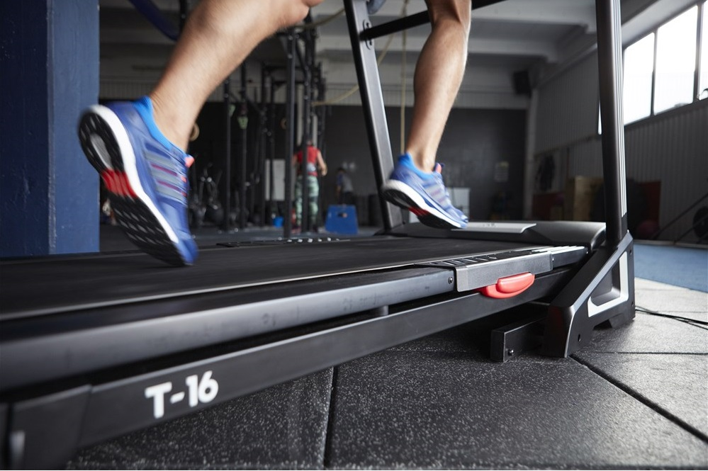 Cushioning in the running deck of the adidas T-16 treadmill